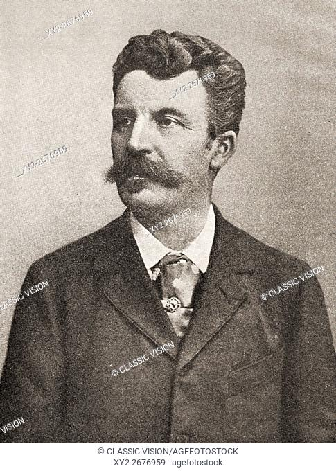 French writer guy de maupassant Stock Photos and Images