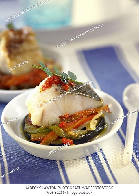platillo de bacalao y verduras / cod and vegetables