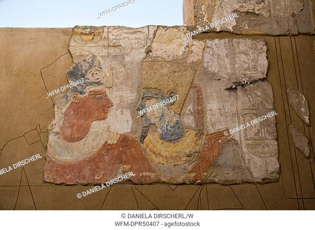 Ancient Painting on Elephantine Island, Aswan, Egypt