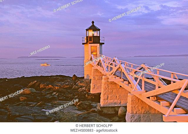 USA, Lighthouse of Port Clyde,Maine