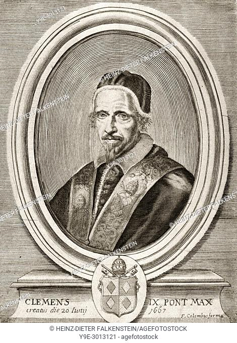 """Pope Clement IX, 1600 â. """"1669, was Pope from 20 June 1667 to his death in 1669"""