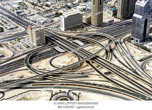 Sheikh Zayed Road, main traffic artery, Dubai, United Arab Emirates, Middle East