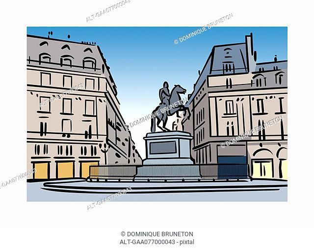 Illustration of Place des Victoires, Paris, France