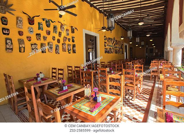 Interior of a restaurant at the old town, Valladolid, Yucatan Province, Mexico, Central America