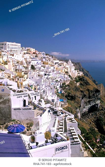 Fira, island of Santorini Thira, Cyclades Islands, Aegean, Greek Islands, Greece, Europe