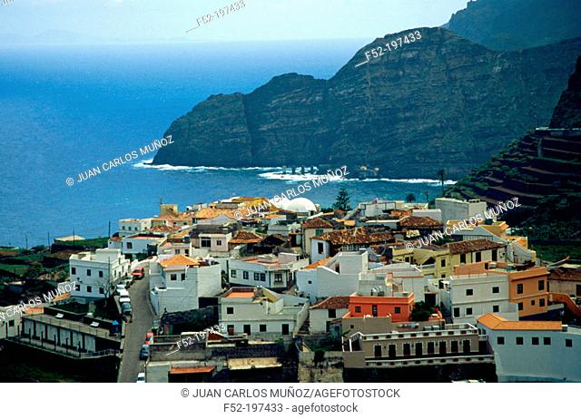 Spain, Canary Islands, Gomera, Agulo, town view