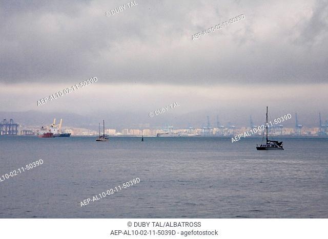 Photograph of the Spanish port of Algeciras near the Strait of Gibraltar