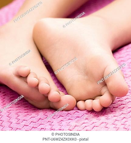 Close-up of a child' feet