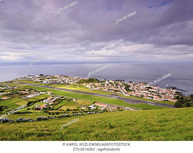 Airport in Santa Cruz das Flores, Flores Island, Azores, Portugal