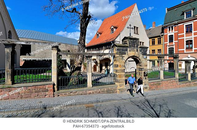 View of the birthplace of Martin Luther in Eisleben, Germany, 08 April 2016. Today, the birthplace of the Protestant reformer that is listed as a UNESCOWorld...