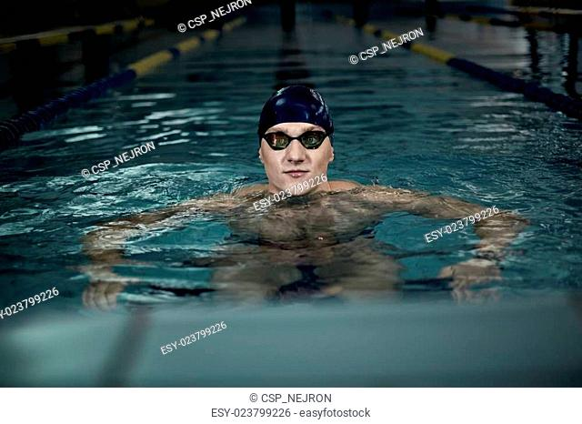 Swimmer in swimming pool