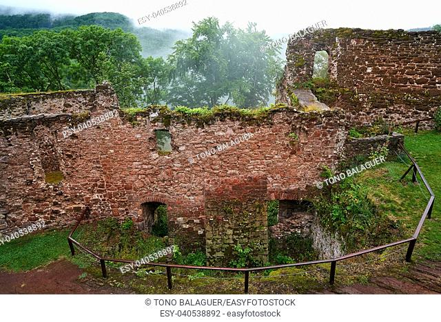 Burg Hohnstein ruins in Harz Neustadt of Germany