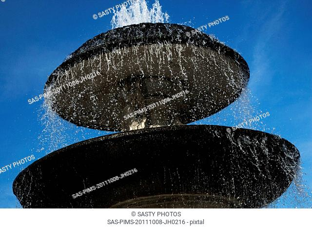 Low angle view of a fountain, St. Peters Square, Vatican City