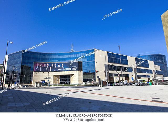 EITB (Basque Autonomous Community's public broadcast service) building. Bilbao, Biscay, Basque Country, Spain