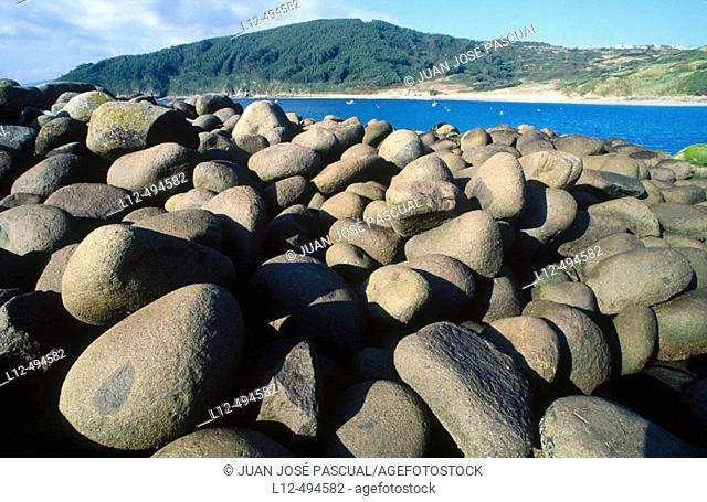Megalithic dam, Bares de A Coruña. La Coruña province, Galicia, Spain