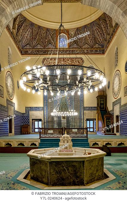 Interior of the Green Mosque (or Mosque of Mehmed I), Bursa, Turkey