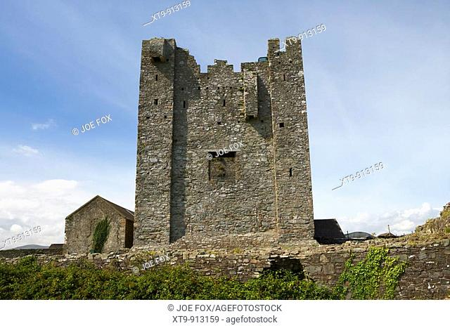 13th century greencastle royal castle built by Hugh De Lacy to guard the entrance to Carlingford lough county down northern ireland uk