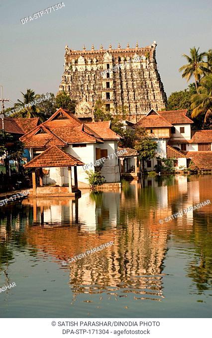 Shri padmanabhaswamy temple at Trivandrum Thiruvananthapuram , Kerala , India