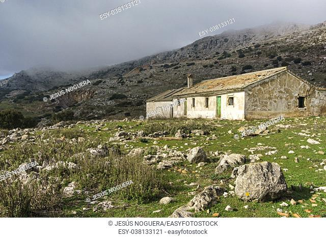 Country house in the Torcal de Antequera, Malaga. Spain
