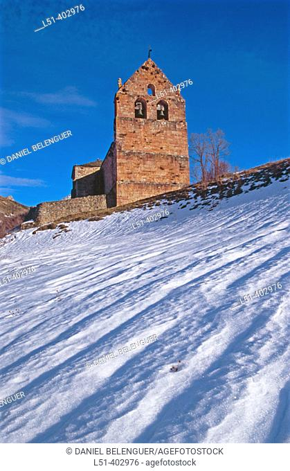 Torre de Babia church. Babia. León province. Spain