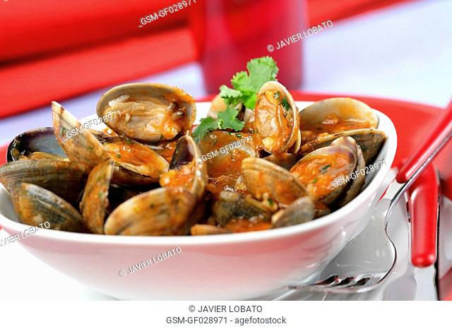 Clams marinara style