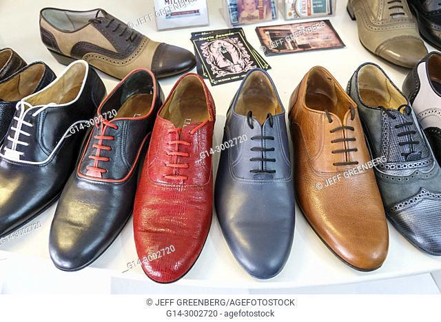 Argentina, Buenos Aires, San Telmo, Libertango, dance shoes, footwear, tango, lace-up, men's shoes, Hispanic, Argentinian Argentinean Argentine