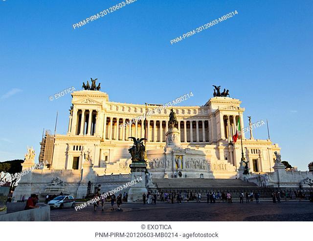 People at Vittorio Emanuele Monument in Rome, Lazio, Italy