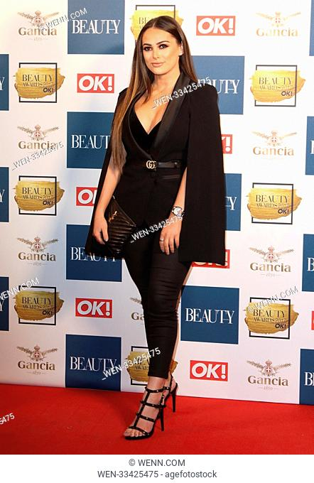 The Beauty Awards with OK! 2017 at the Pavilion, Tower of London, London Featuring: Courtney Green Where: London, United Kingdom When: 28 Nov 2017 Credit: WENN