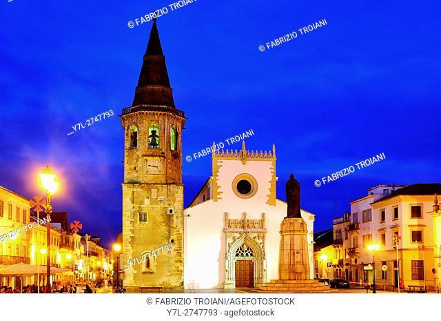Igreja de Sao Joao Baptista in Praca da Republica, Tomar, Portugal
