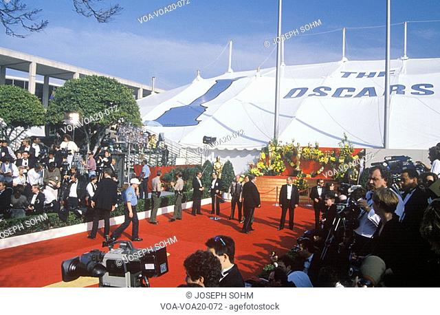 Red Carpet Preparations for 62nd Annual Academy Awards, Los Angeles, California
