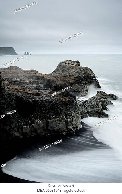 Iceland, beach photography, Dyrhólaey, cape, Reynisdrangar, sea, beach