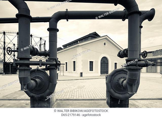 Greece, Central Greece Region, Athens, Gazi Area, Technopolis, performance space in former gas works