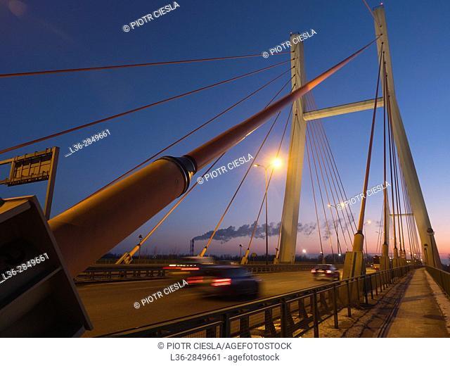 Poland. Warsaw. The new Siekierkowski Bridge