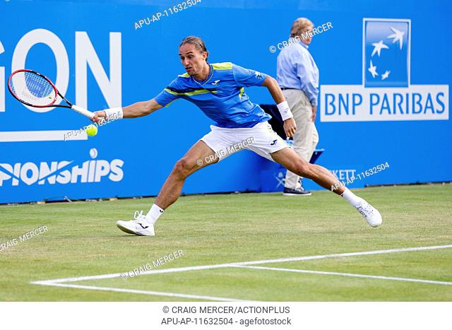2015 Queens Aegon Championship Tennis Jun 17th. 17.06.2015. London, England. Queens Aegon Championship Tennis. Alexandr Dolgopolov (UKR) versus Guillermo...