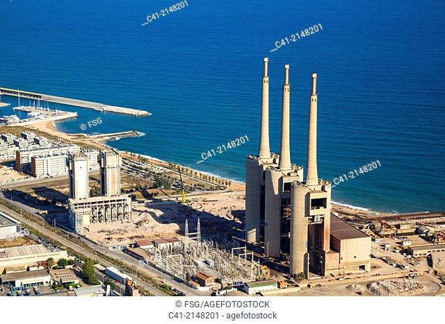 Power plant. Mouth of Besos River. Barcelona, Spain