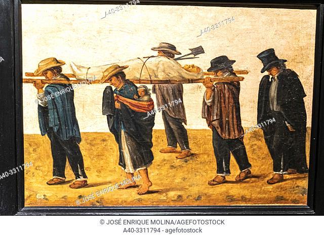 Indian funeral, Ecuador (1870-1900).Ecuadorian painting, Art Museum of Lima, Lima, Peru