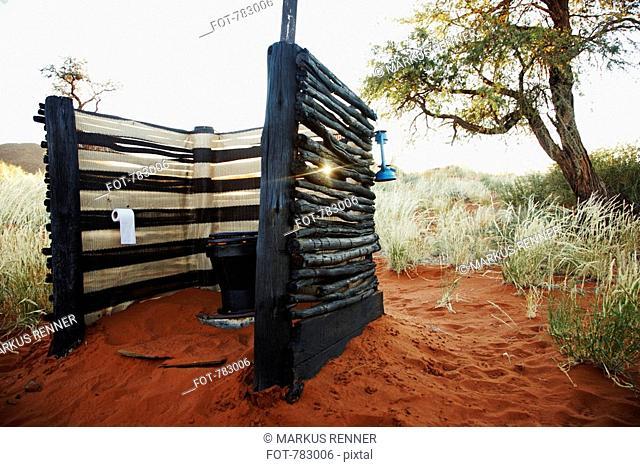 An outdoor toilet along the Tok Tokkie Trail, NamibRand Nature Reserve, Namibia