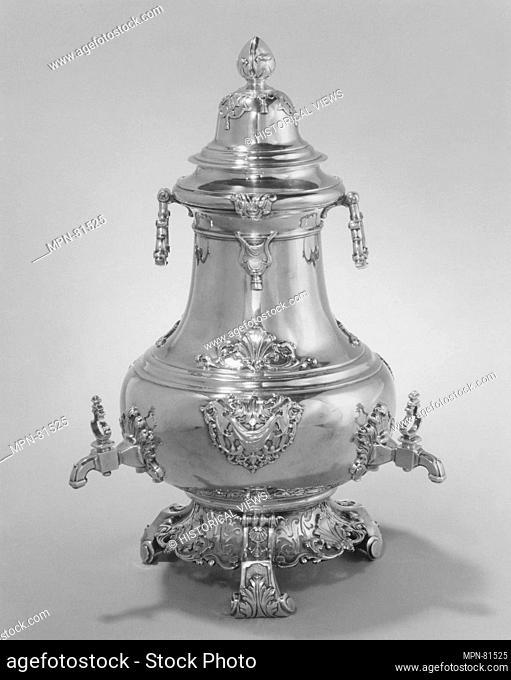 Coffee urn. Maker: Tijmon Suyk (1699-1754, master 1723); Date: 1733; Culture: Dutch, Amsterdam; Medium: Silver; Dimensions: H. 15 1/8 in. (38