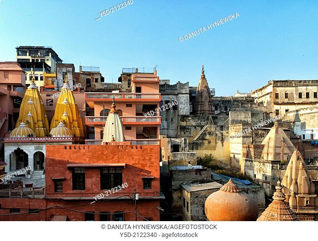 """""""Varanasi also known as Benares, Banaras or Kashi, city on the banks of the Ganges in Uttar Pradesh, the holiest of the seven sacred cities (Sapta Puri) in..."""