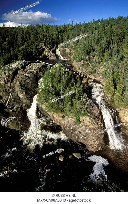 Aerial of Pukaskwa National Park, Ontario, Canada