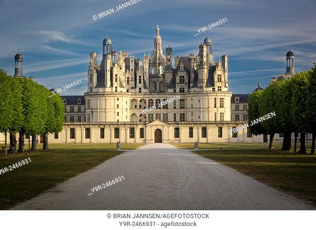 Early morning over Chateau Chambord, Loire-et-Cher, Centre, France