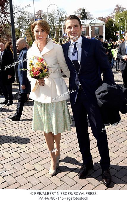 Zwolle, 27-04-2016 Prince Maurits and Princess Marilène HM King Willem-Alexander, HM Queen Maxima, Princess Amalia, Princess Alexia