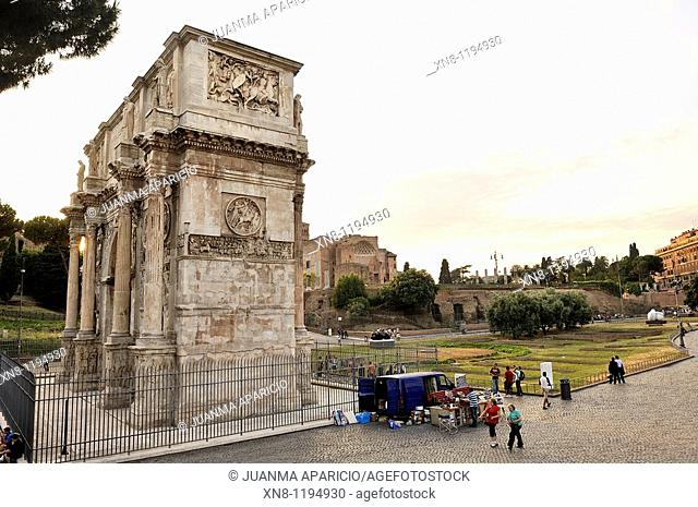 Side view of the Arch of Constantine, Rome
