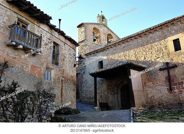 Parish church of Saint John the Baptist XVIth century. Palazuelos, Guadalajara, Spain