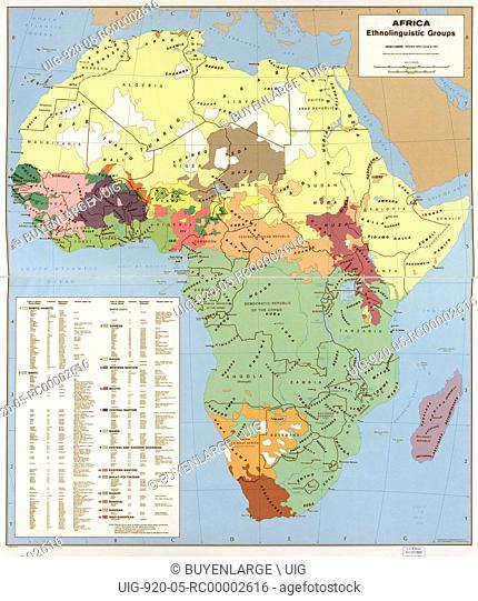 Ethnolinguisitic Map of Africa