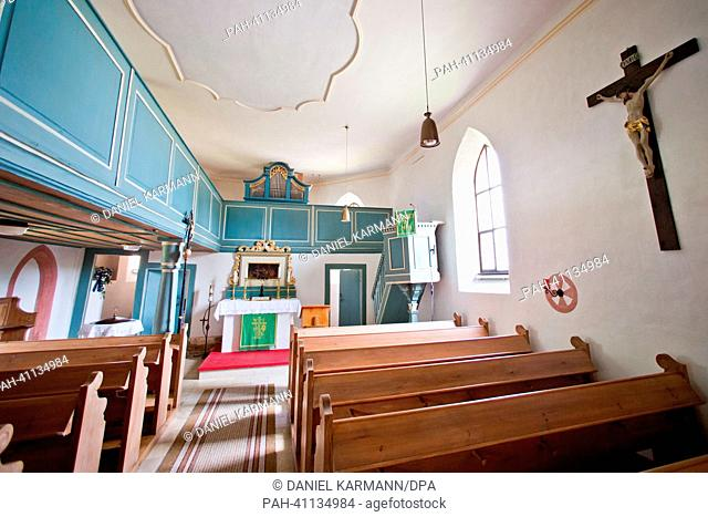 St.Wolfgang's Church in Haundorf, Germany, 18 July 2013. The Bavarian administrative court is hearing a case about the permitted noise level of the church...