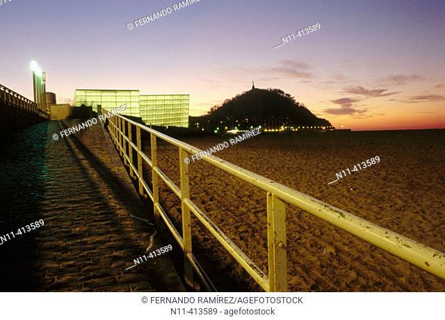 Kursaal Center, by Rafael Moneo and city view. San Sebastián. Spain