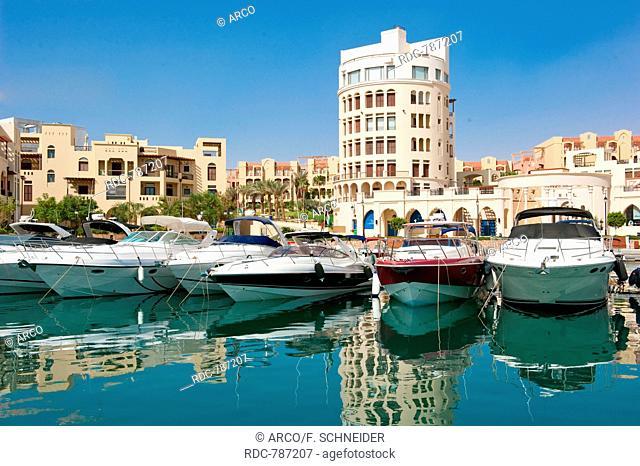 boats and yachts, Marina Tala Bay, Aqaba, Jordan, Asia Minor / Akaba
