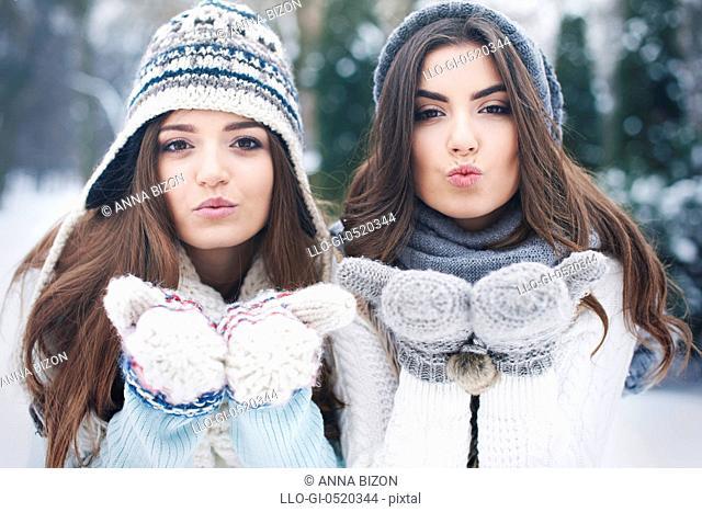 Sweet kisses from lovely girls. Debica, Poland