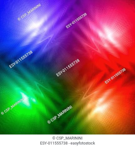abstract motley rainbow background with four shining lines and w